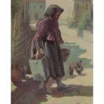 hitiris-dimitrios-1921-1996-oil-woman-in-village