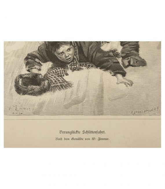 Lithograph (after the painting by Wilhelm C. A. Zimmer – German, 1853 – 1937)